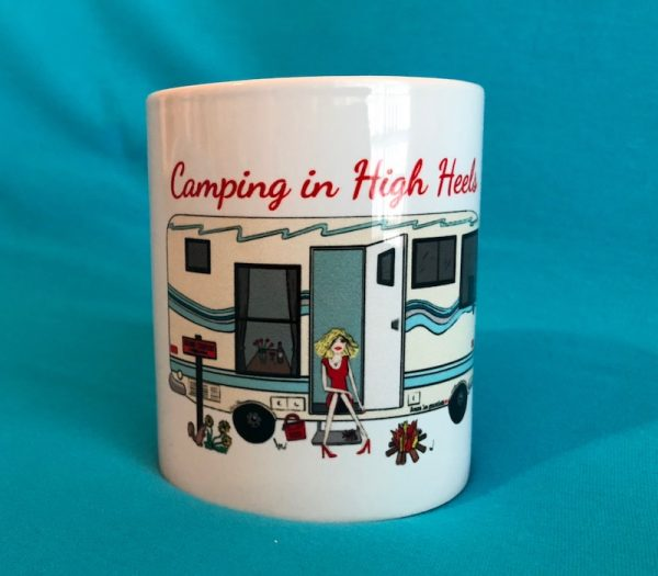 Camping in High Heels Coffee Mug