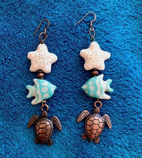 Starfish Earrings by Miki Bennett