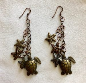 Beach Earrings by Miki Bennett