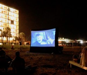 Beach, Beach Movie, Ocean, Sand, Waves, Pier,Folly Beach, Outdoor Movie,