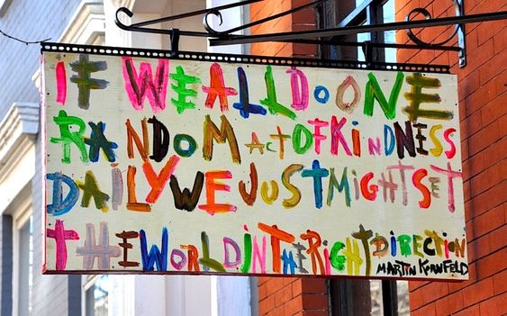 What If We Did One Random Act Of Kindness Each Day