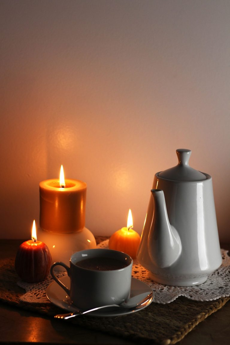 Candles, teapot, Coffee Cup, Mug,