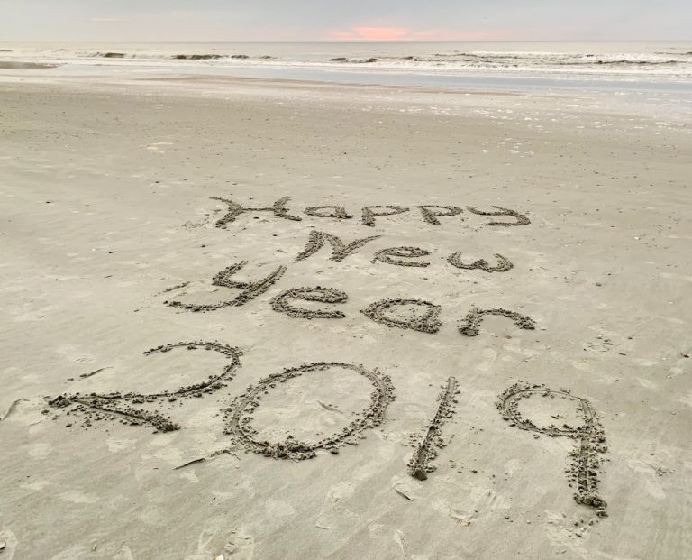 Beach, Holidays, Ocean, Waves, Happy New Year, Folly Beach