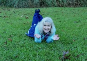 Laying in the grass, Fun, Happy, Curious,