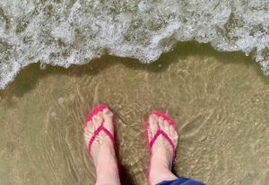 Beach, Feet in the Water, Walking on the beach, Walking in the surf