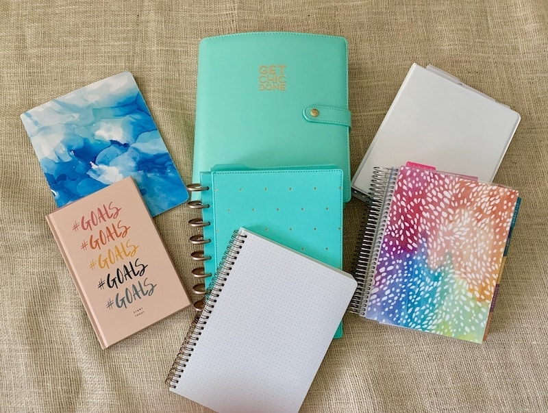 Planner, Planners, Organizer, Erin condren, The Happy Planner, Rachel Hollis, Start Today Journal