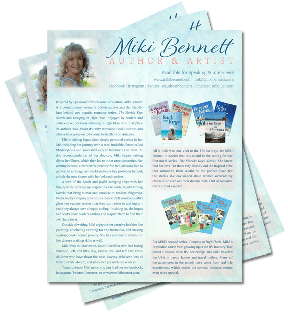 Author Miki Bennett - Media Sheet